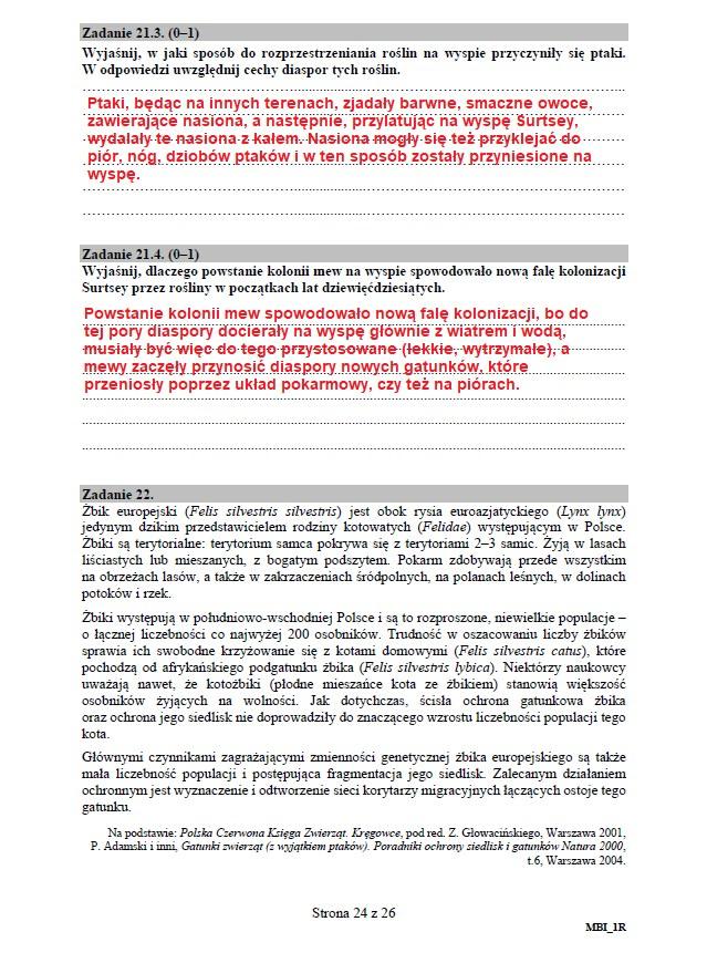 Matura 2020: Biologia - arkusz CKE i odpowiedzi, strona 24 /INTERIA.PL