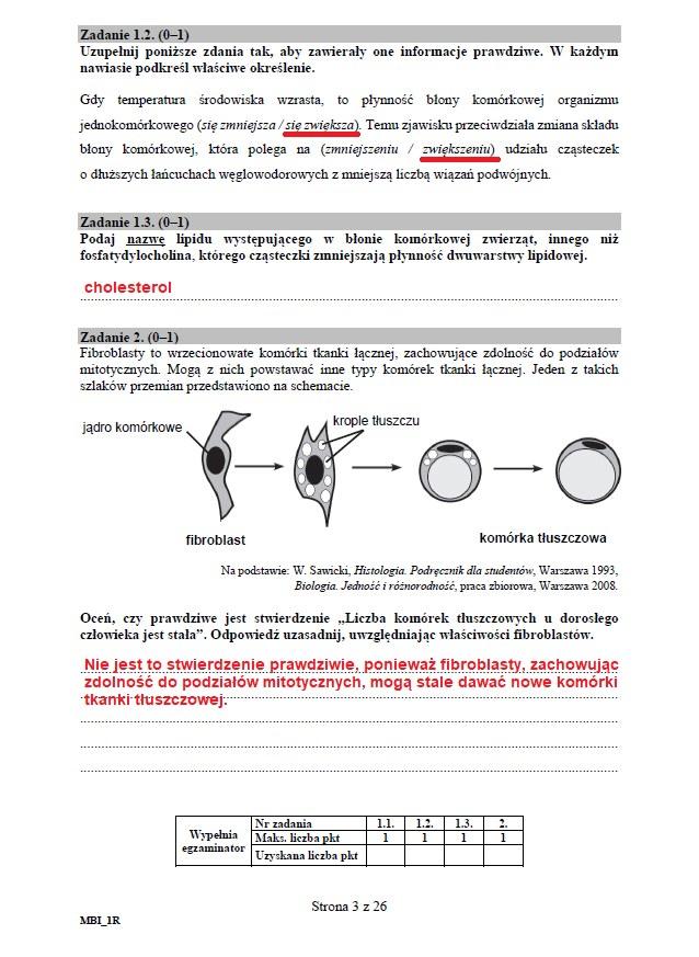 Matura 2020: Biologia - arkusz CKE i odpowiedzi, strona 3 /INTERIA.PL