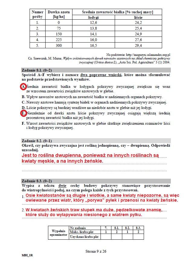 Matura 2020: Biologia - arkusz CKE i odpowiedzi, strona 9 /INTERIA.PL