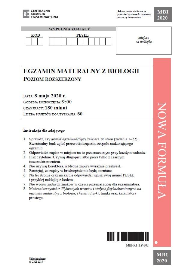 matura biologia 2018 interia