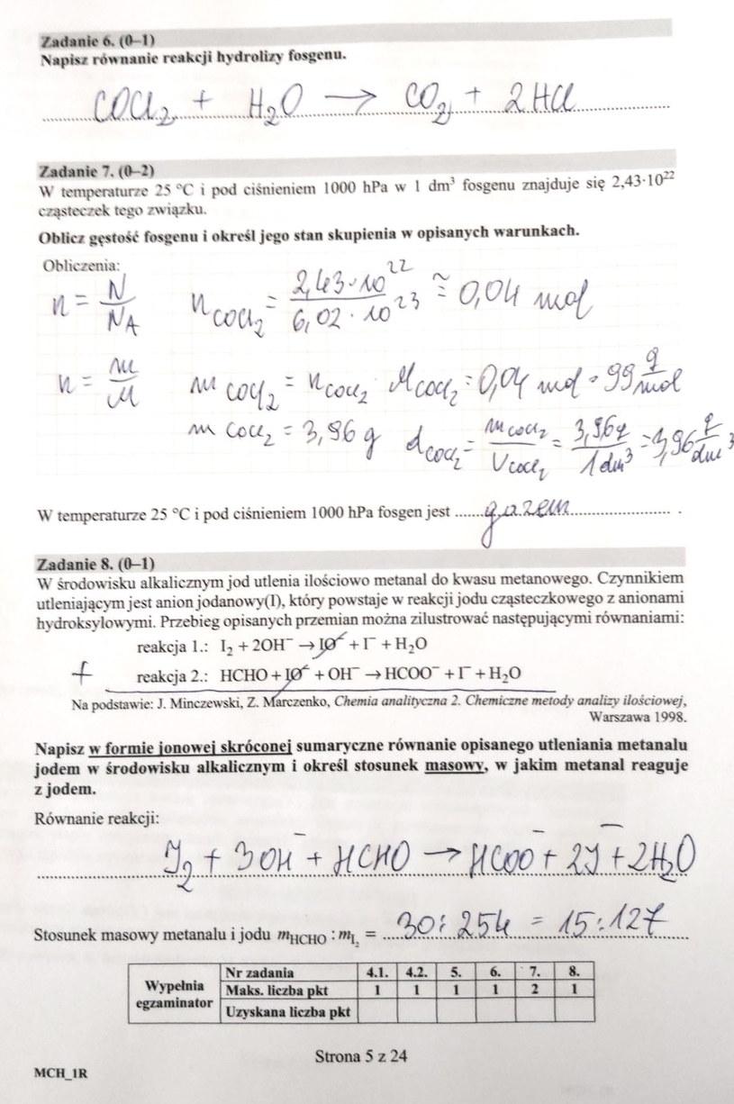 Matura 2020: Chemia - arkusz CKE i odpowiedzi /INTERIA.PL