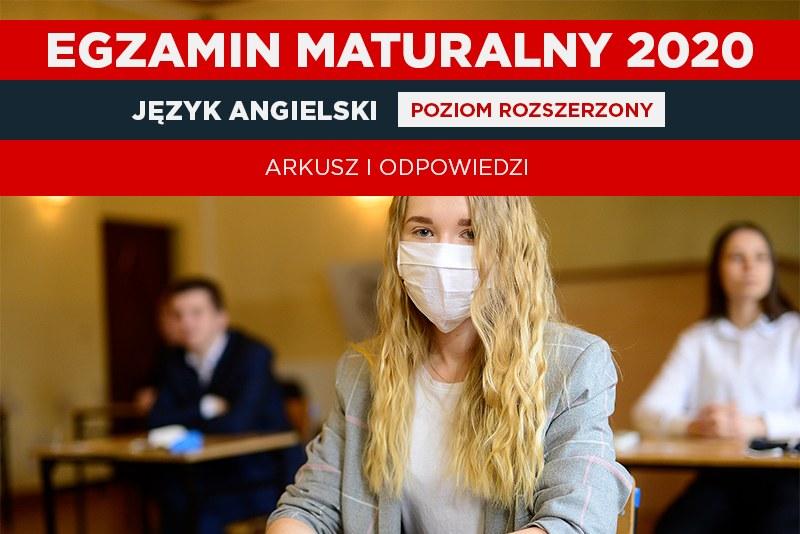 Matura 2020 - dziś egzaminy z języka angielskiego (oprac. graficzne Interia) /Daniel Dmitriew /Agencja FORUM
