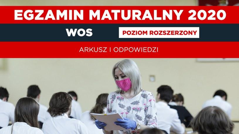 Matura 2020: Dziś WOS - poziom rozszerzony. U nas arkusz CKE i odpowiedzi (oprac. graficzne Interia) /Andrzej Hulimka  /Agencja FORUM