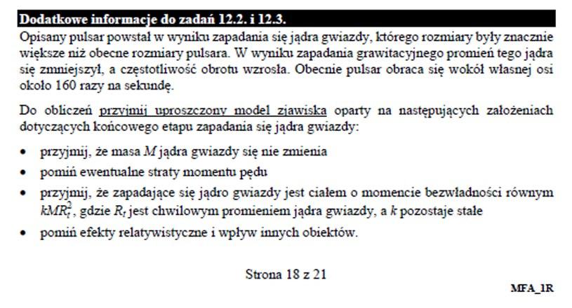 Matura 2020: Fizyka - zad. 12 /INTERIA.PL