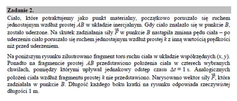 Matura 2020: Fizyka - zad. 2 /INTERIA.PL