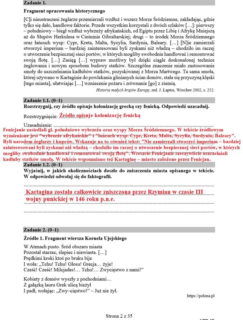 MATURA 2020: Historia poziom rozszerzony. Arkusz CKE i odpowiedzi /INTERIA.PL