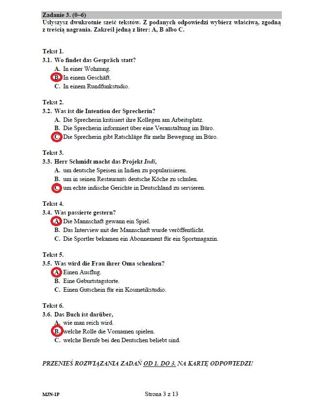 Matura 2020: Język niemiecki (poziom podstawowy) – arkusz CKE i odpowiedzi /INTERIA.PL