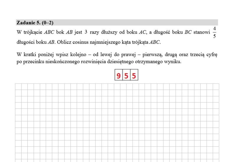 MATURA 2020. Matematyka poziom rozszerzony. Arkusz CKE i odpowiedzi. Strona 3 /INTERIA.PL