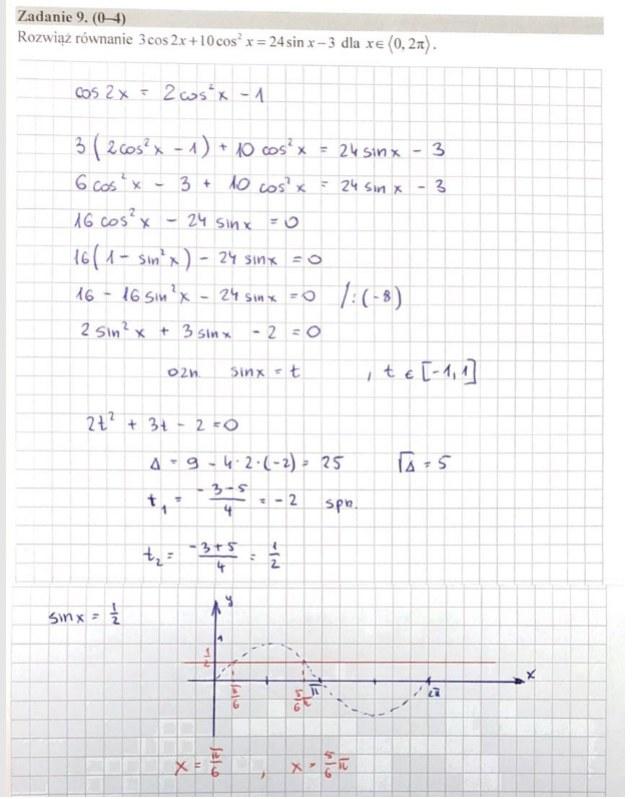 MATURA 2020. Matematyka poziom rozszerzony. Arkusz CKE i odpowiedzi. Strona 7 /INTERIA.PL