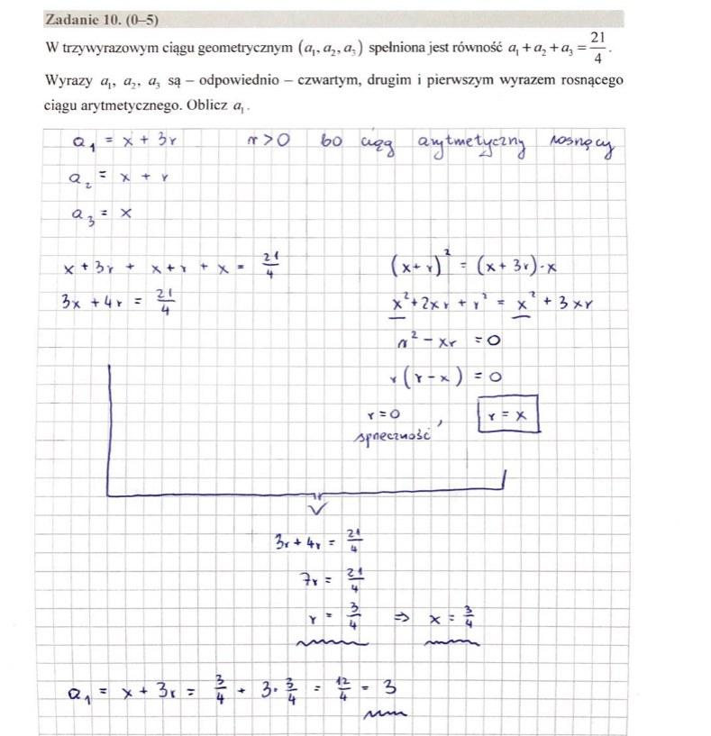 MATURA 2020. Matematyka poziom rozszerzony. Arkusz CKE i odpowiedzi. Strona 8 /INTERIA.PL