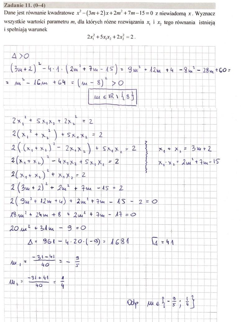 MATURA 2020. Matematyka poziom rozszerzony. Arkusz CKE i odpowiedzi. Strona 9 /INTERIA.PL