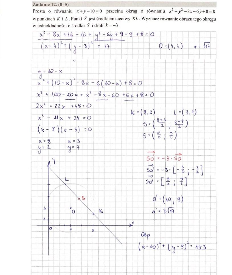 MATURA 2020. Matematyka poziom rozszerzony. Arkusz CKE i odpowiedzi. Strona 10 /INTERIA.PL