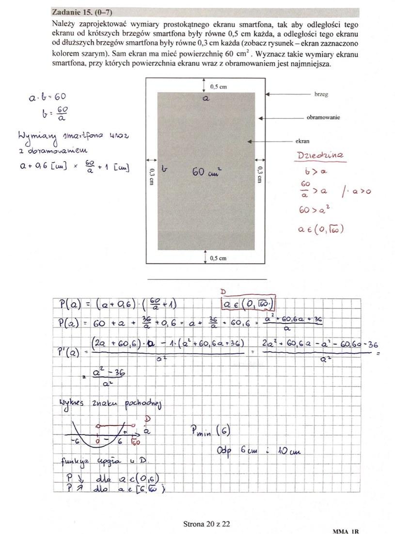 MATURA 2020. Matematyka poziom rozszerzony. Arkusz CKE i odpowiedzi. Strona 13 /INTERIA.PL