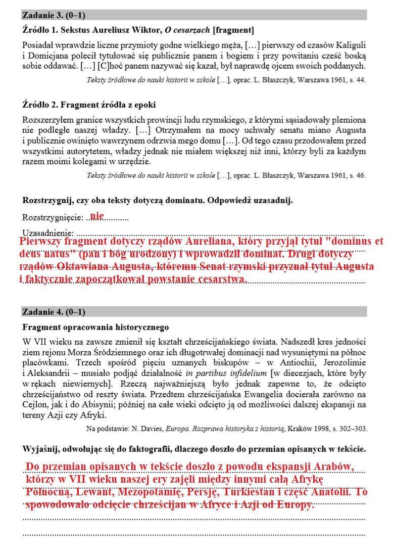 Matura 2020 z historii /INTERIA.PL