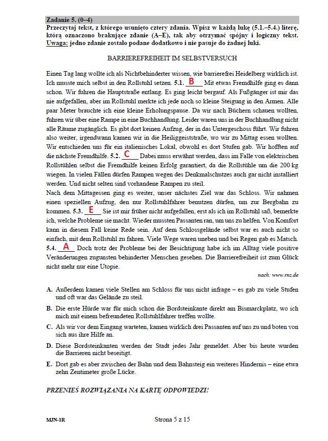 Matura 2020 z niemieckiego (poziom rozszerzony) – odpowiedzi /INTERIA.PL