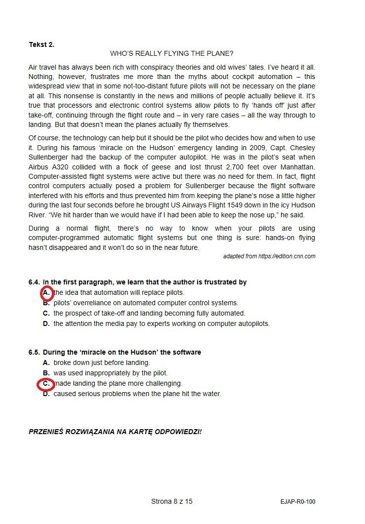 Matura 2021. Arkusz CKE i proponowane odpowiedzi /INTERIA.PL