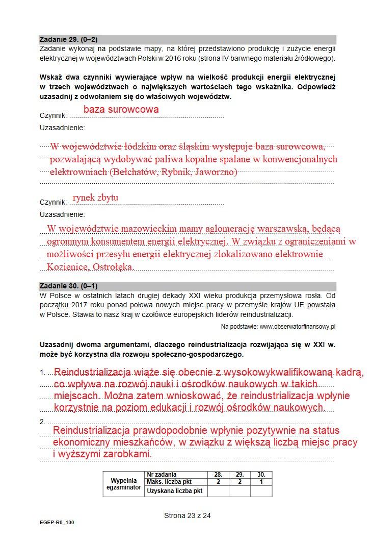 Matura 2021. Arkusz CKE z geografii /INTERIA.PL