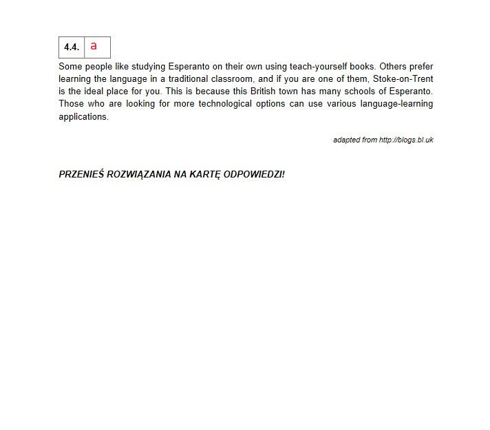 Matura 2021; język angielski odpowiedzi /INTERIA.PL