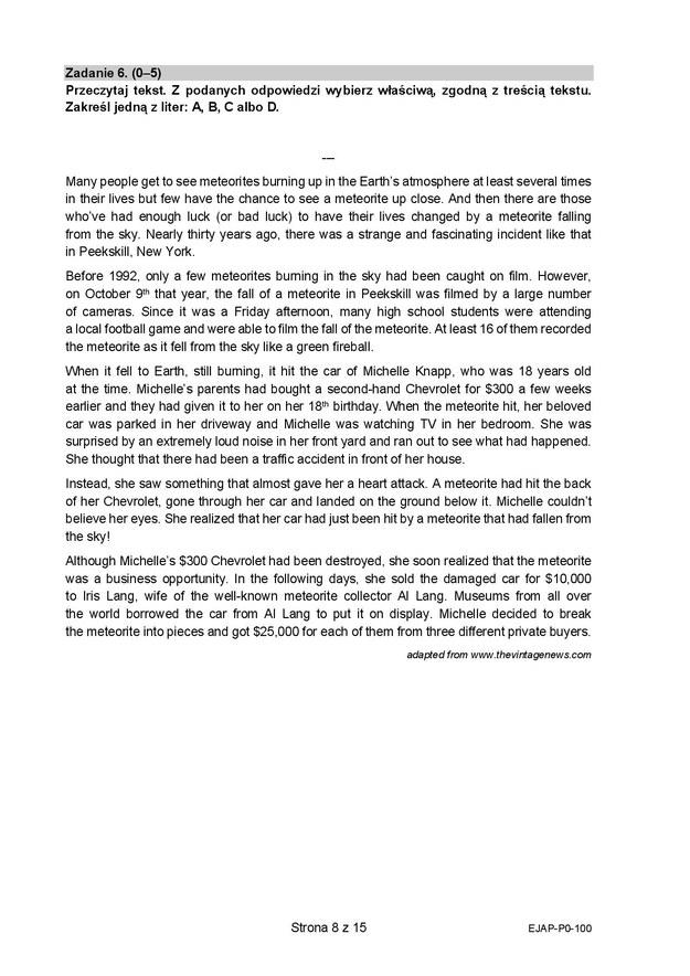 Matura 2021. Język angielski - odpowiedzi /Centralna Komisja Egzaminacyjna