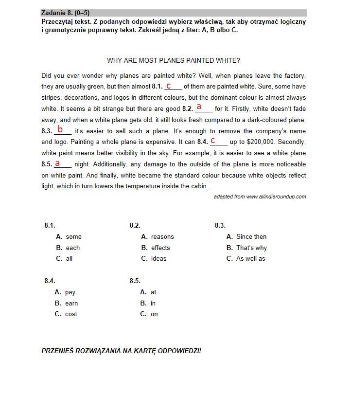 Matura 2021 - język angielski poziom podstawowy - arkusz CKE i rozwiązania /INTERIA.PL