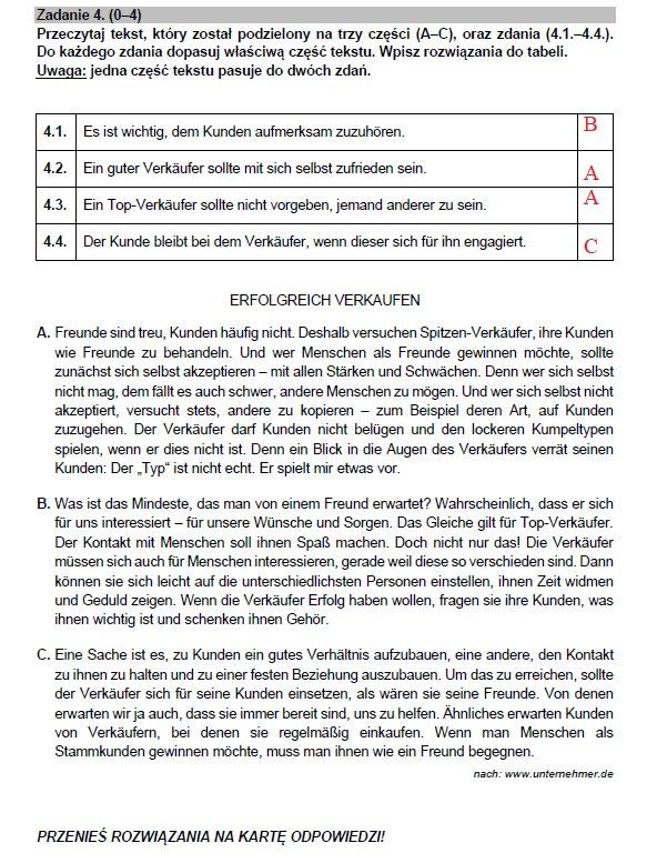 Matura 2021: Język niemiecki poziom rozszerzony /INTERIA.PL