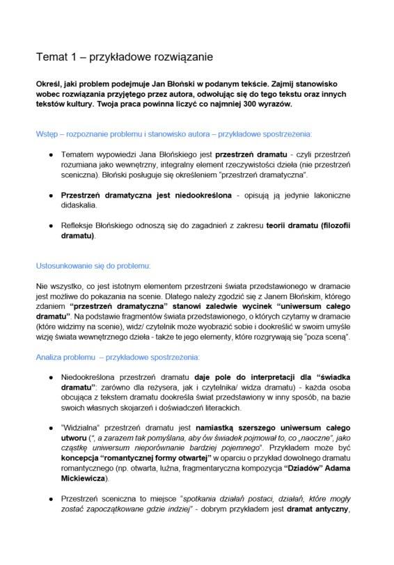 Matura 2021. Język polski poziom rozszerzony. Proponowane rozwiązania /INTERIA.PL