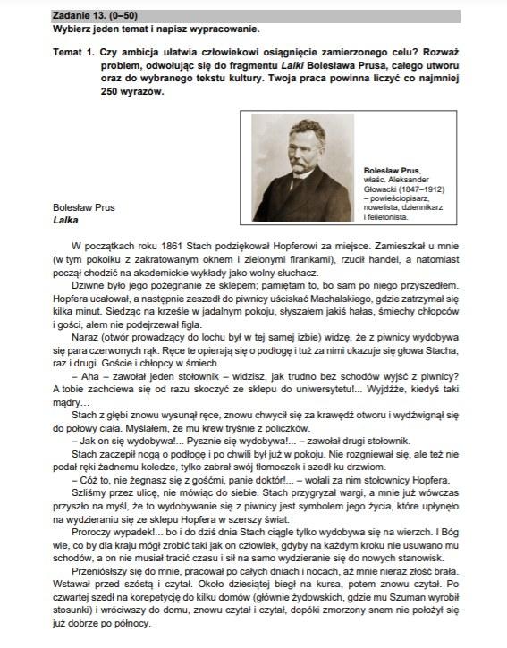 Matura 2021; język polski /CKE