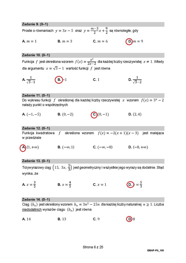 Matura 2021, Matematyka, poziom podstawowy - odpowiedzi /RMF FM