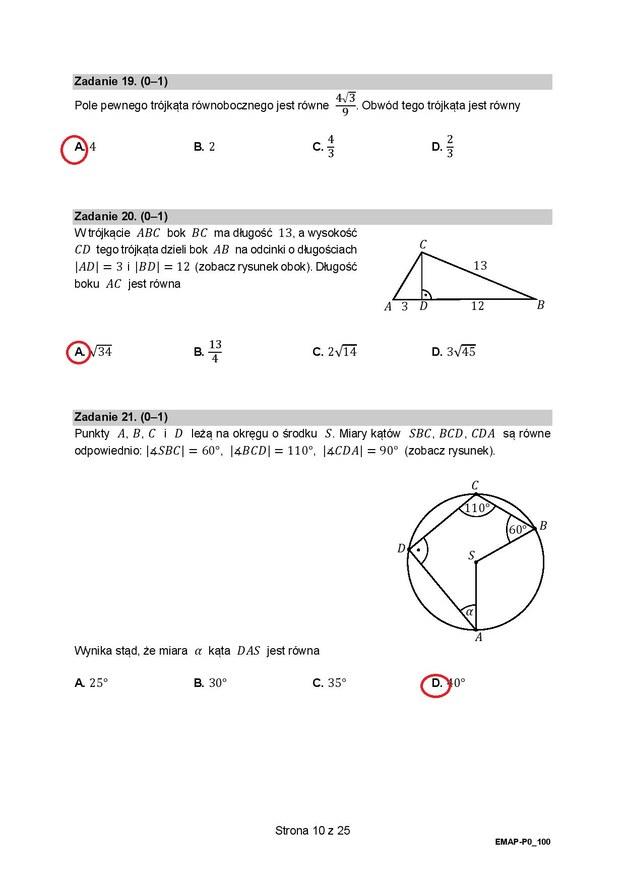 Matura 2021. Matematyka, poziom podstawowy - odpowiedzi /RMF24