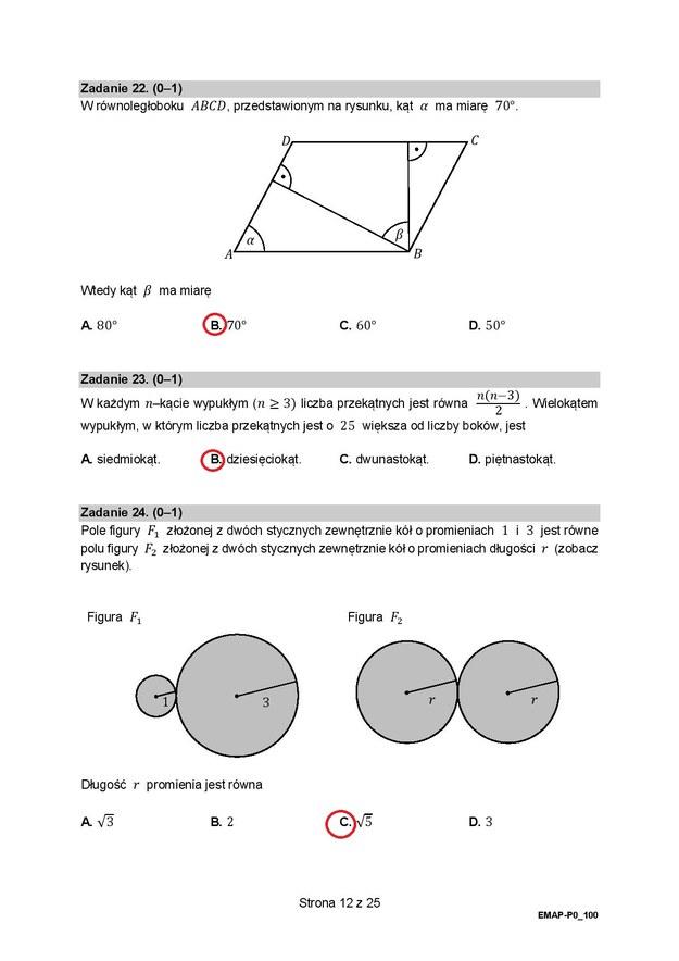 Matura 2021. Matematyka, poziom podstawowy - odpowiedzi /RMF FM