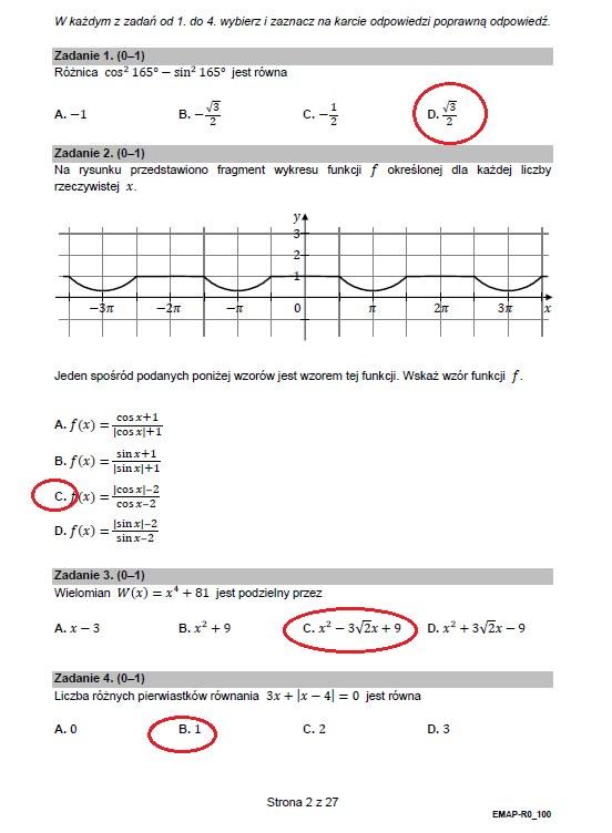 MATURA 2021: Matematyka poziom rozszerzony. Arkusz CKE i rozwiązania