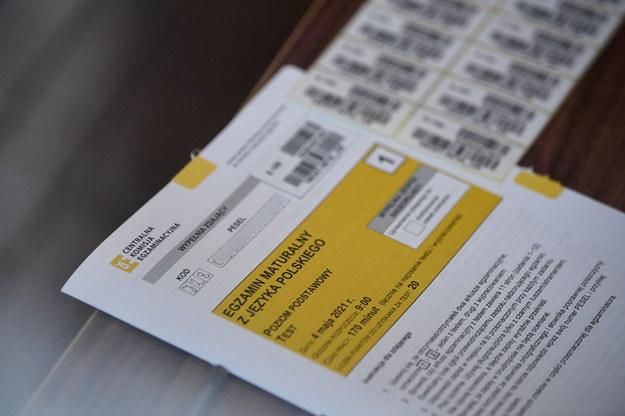 Matura 2021 - we wtorek maturzyści pisali egzamin z języka polskiego /Darek Delmanowicz /PAP