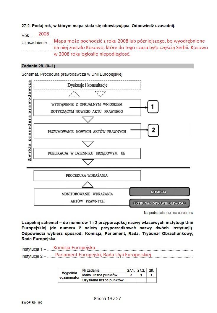 Matura 2021. Wiedza o społeczeństwie /INTERIA.PL