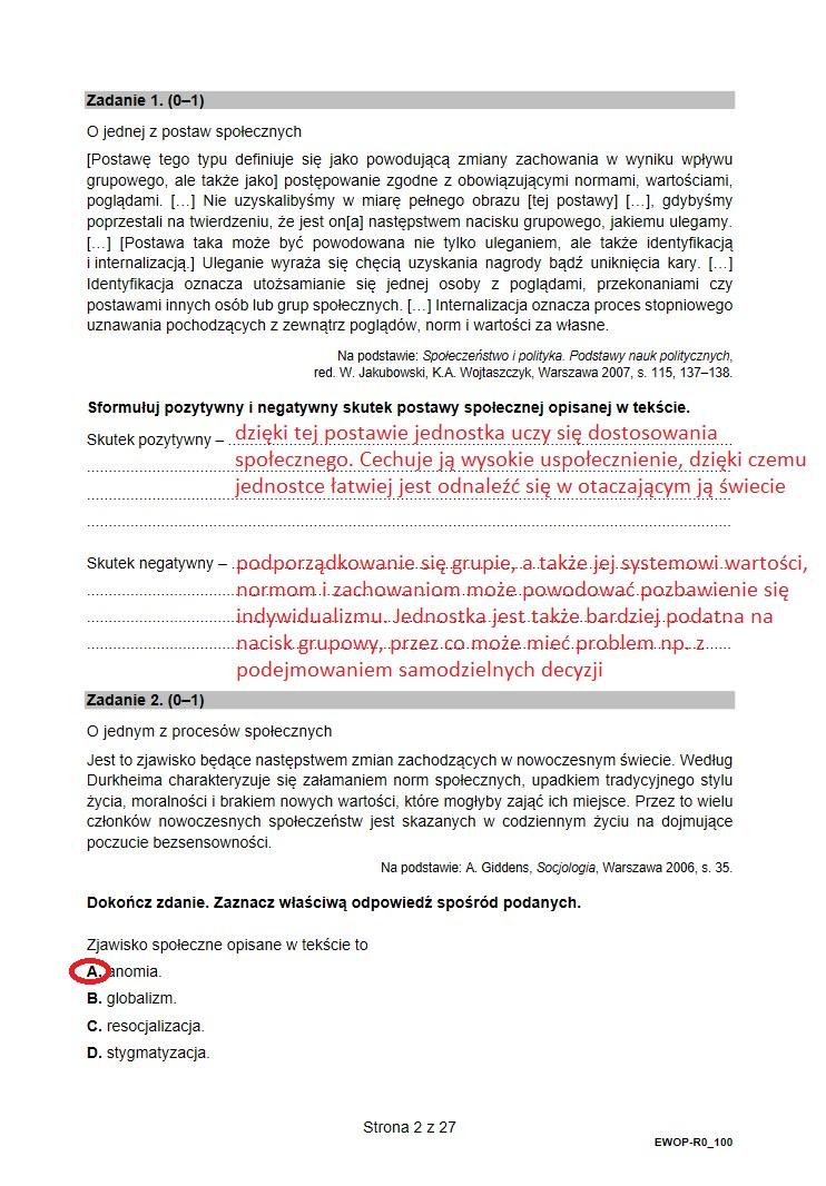Matura 2021. WOS, arkusz i proponowane rozwiązania /INTERIA.PL