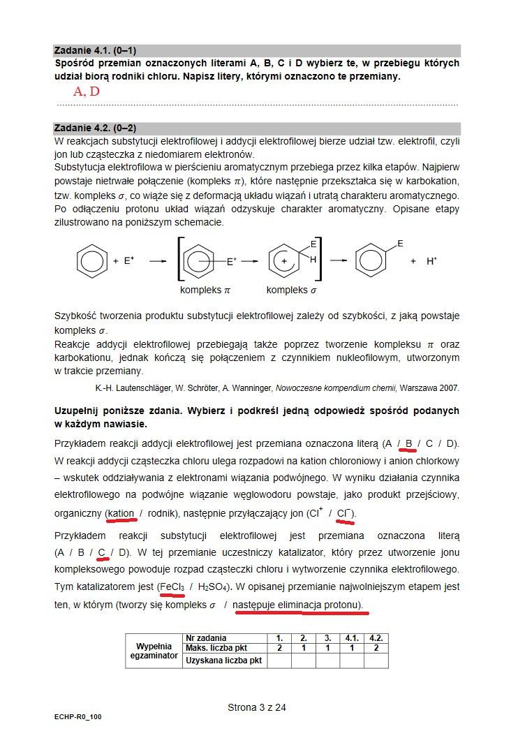 Matura 2021 z chemii, proponowane odpowiedzi /INTERIA.PL