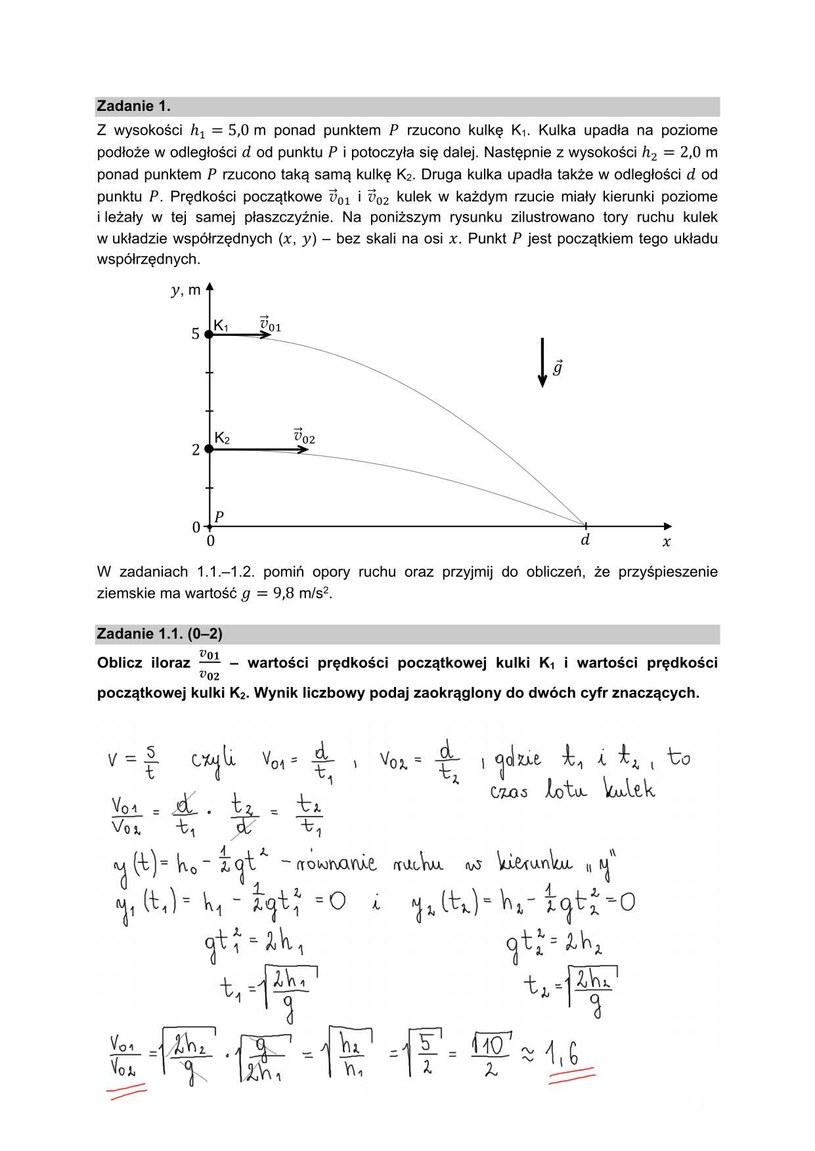Matura 2021 z fizyki, arkusz i nieoficjalne odpowiedzi /INTERIA.PL