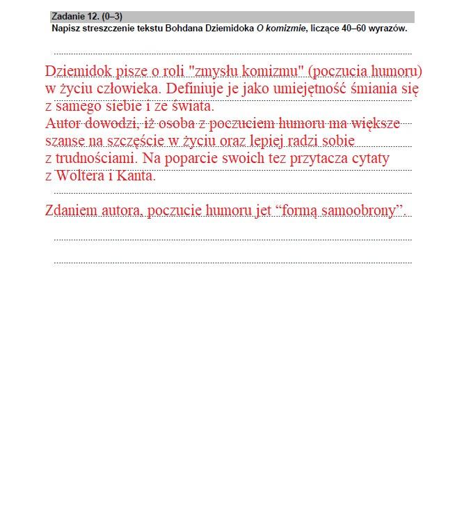 Matura 2021 z języka polskiego; źródło proponowanych odpowiedzi Interia /CKE