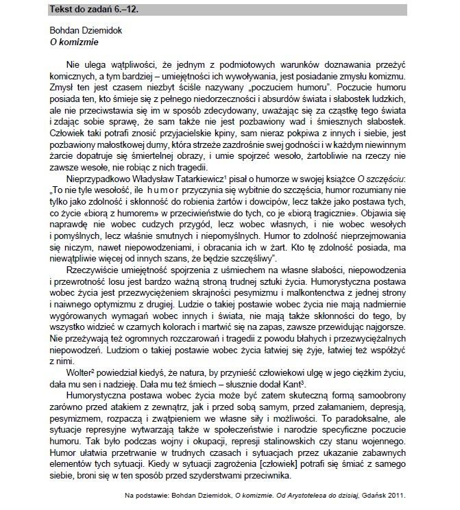 Matura 2021 z języka polskiego /CKE