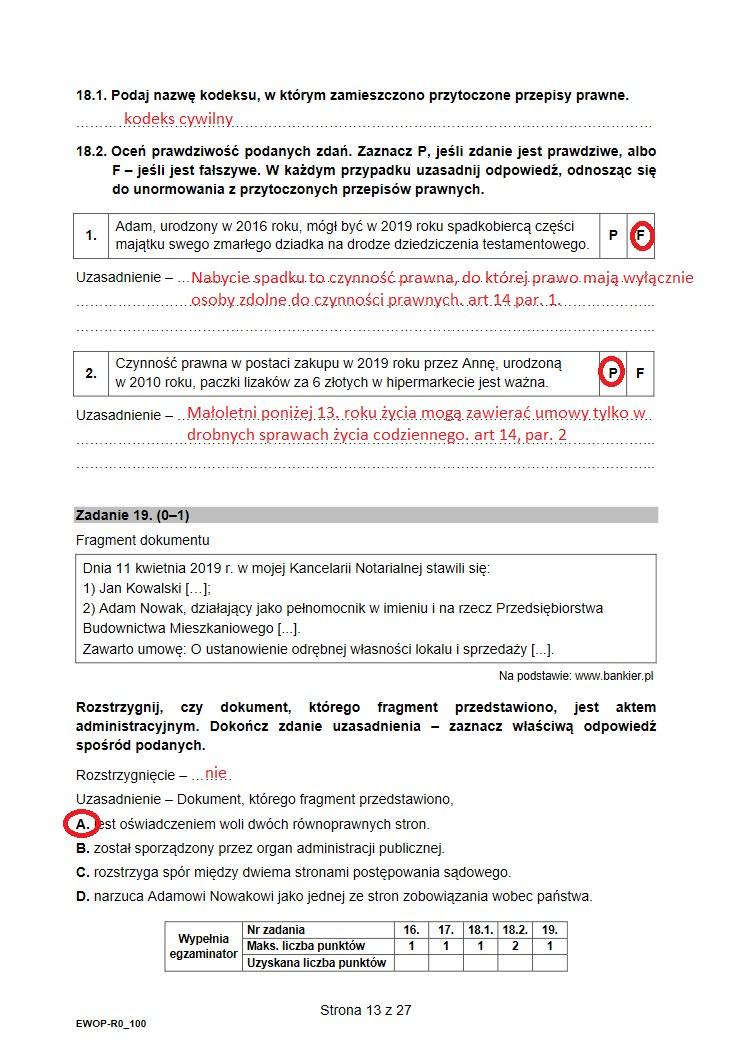 Matura 2021 z WOSu /INTERIA.PL