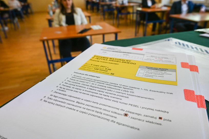 Matura poprawkowa 2021 /Tadeusz Koniarz /Reporter