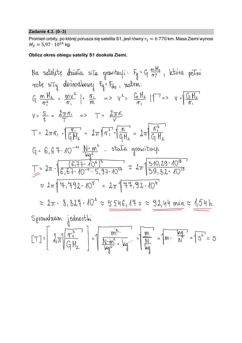 Matura z fizyki, arkusz i proponowane rozwiązania /INTERIA.PL