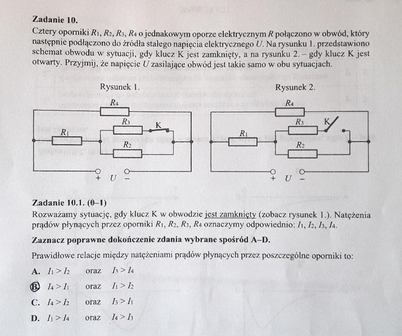Matura z fizyki - odpowiedź do zad. 10.1 /INTERIA.PL
