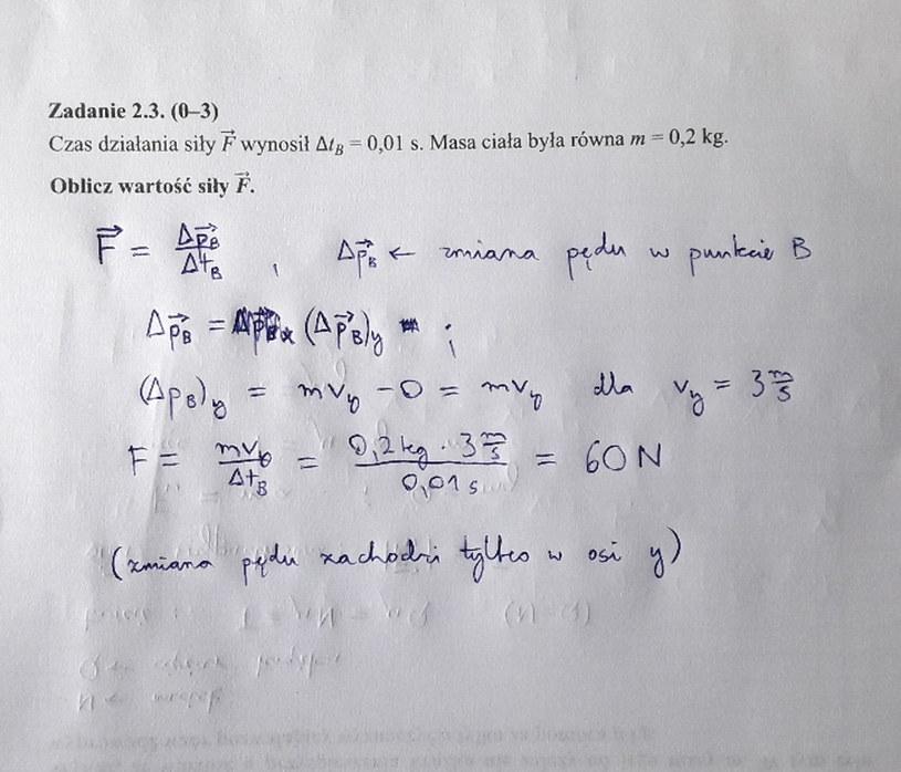 Matura z fizyki - odpowiedź do zad. 2.3 /INTERIA.PL
