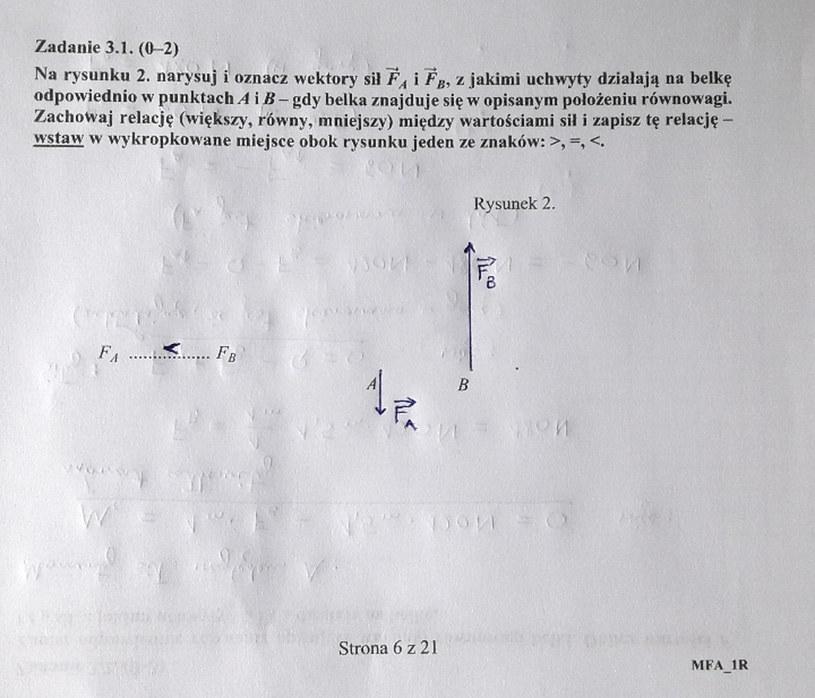 Matura z fizyki - odpowiedź do zad. 3.1 /INTERIA.PL
