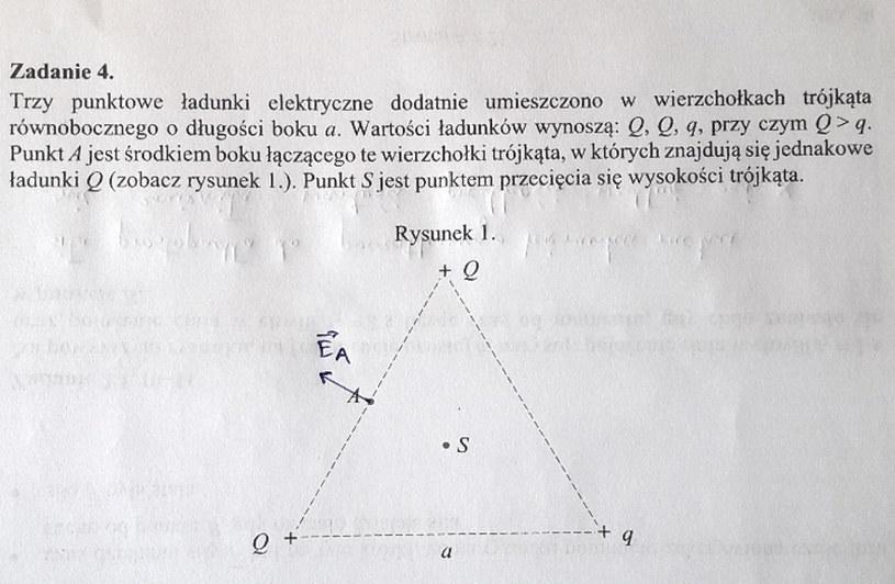 Matura z fizyki - odpowiedź do zad. 4.1 /INTERIA.PL