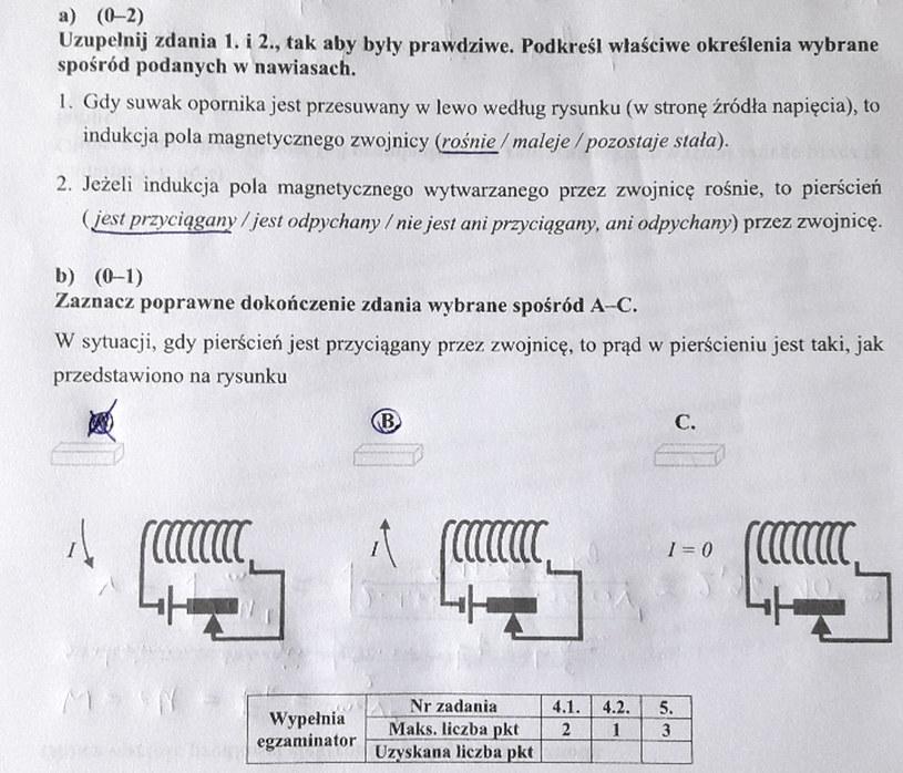Matura z fizyki - odpowiedź do zad. 5 /INTERIA.PL