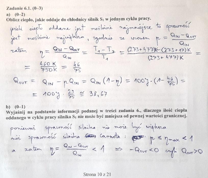 Matura z fizyki - odpowiedź do zad. 6.1 /INTERIA.PL