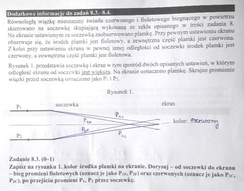 Matura z fizyki - odpowiedź do zad. 8.3 /INTERIA.PL