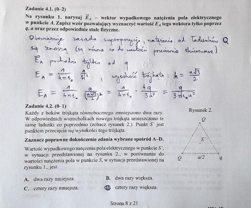 Matura z fizyki - odpowiedzi do zad. 4.1 i 4.2 /INTERIA.PL