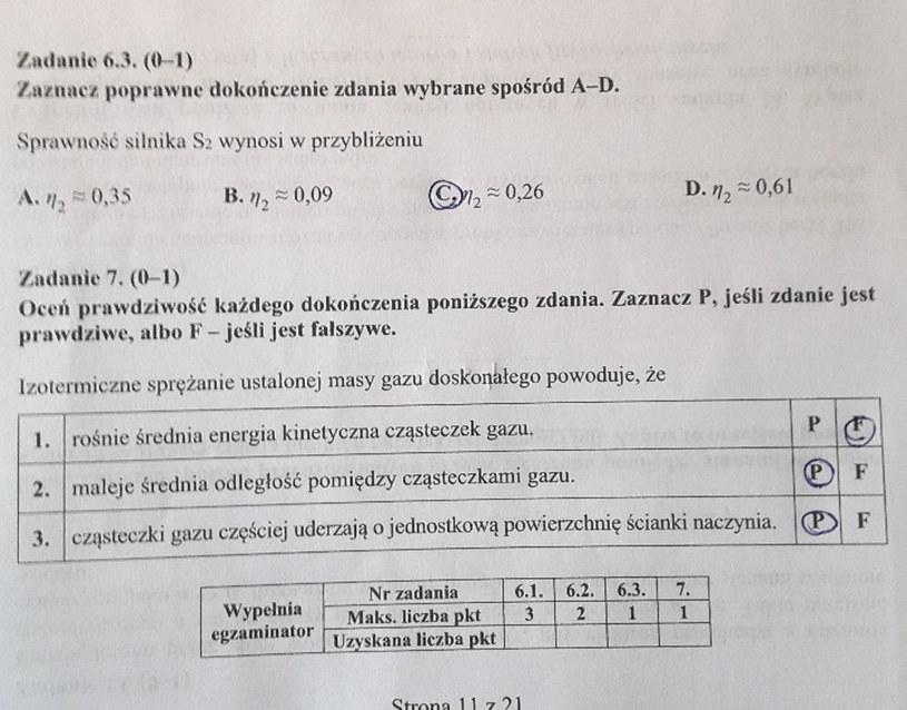 Matura z fizyki - odpowiedzi do zad. 6.3 i 7 /INTERIA.PL